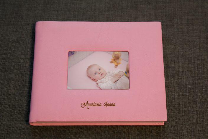 album foto tip carte, botez