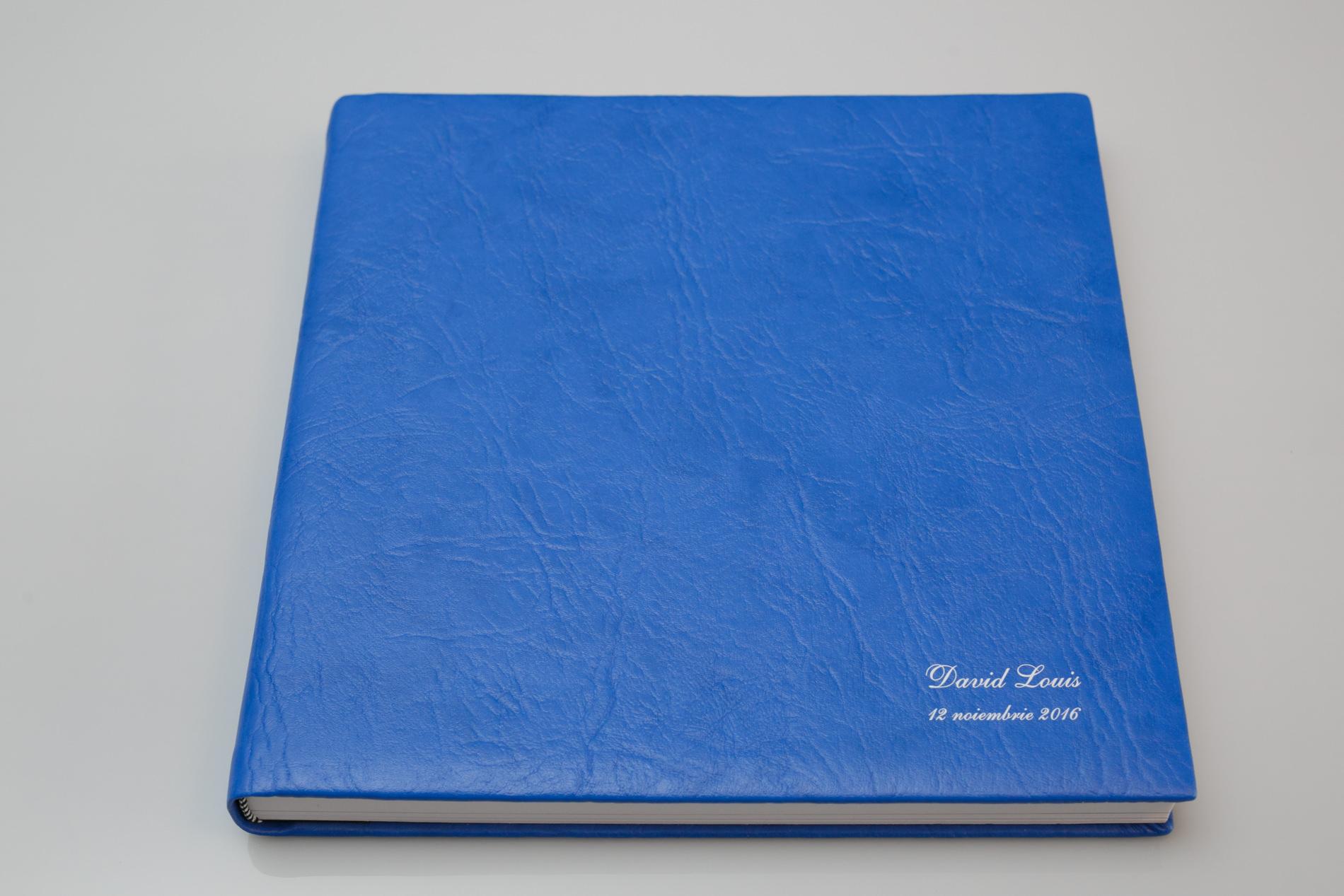 album foto tip carte albastru