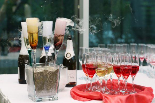 detalii nunta, pahare sampanie