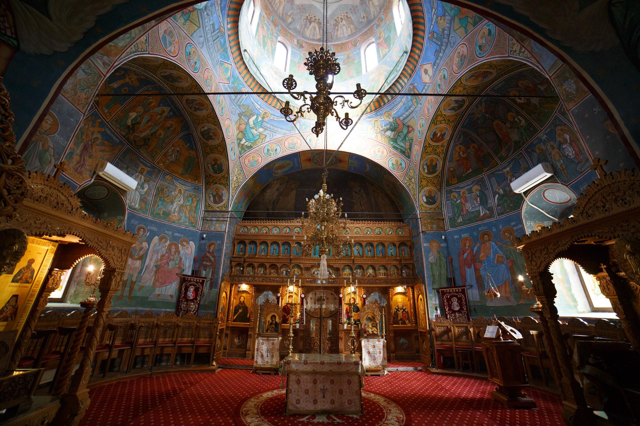Mănăstirea Comana, interior