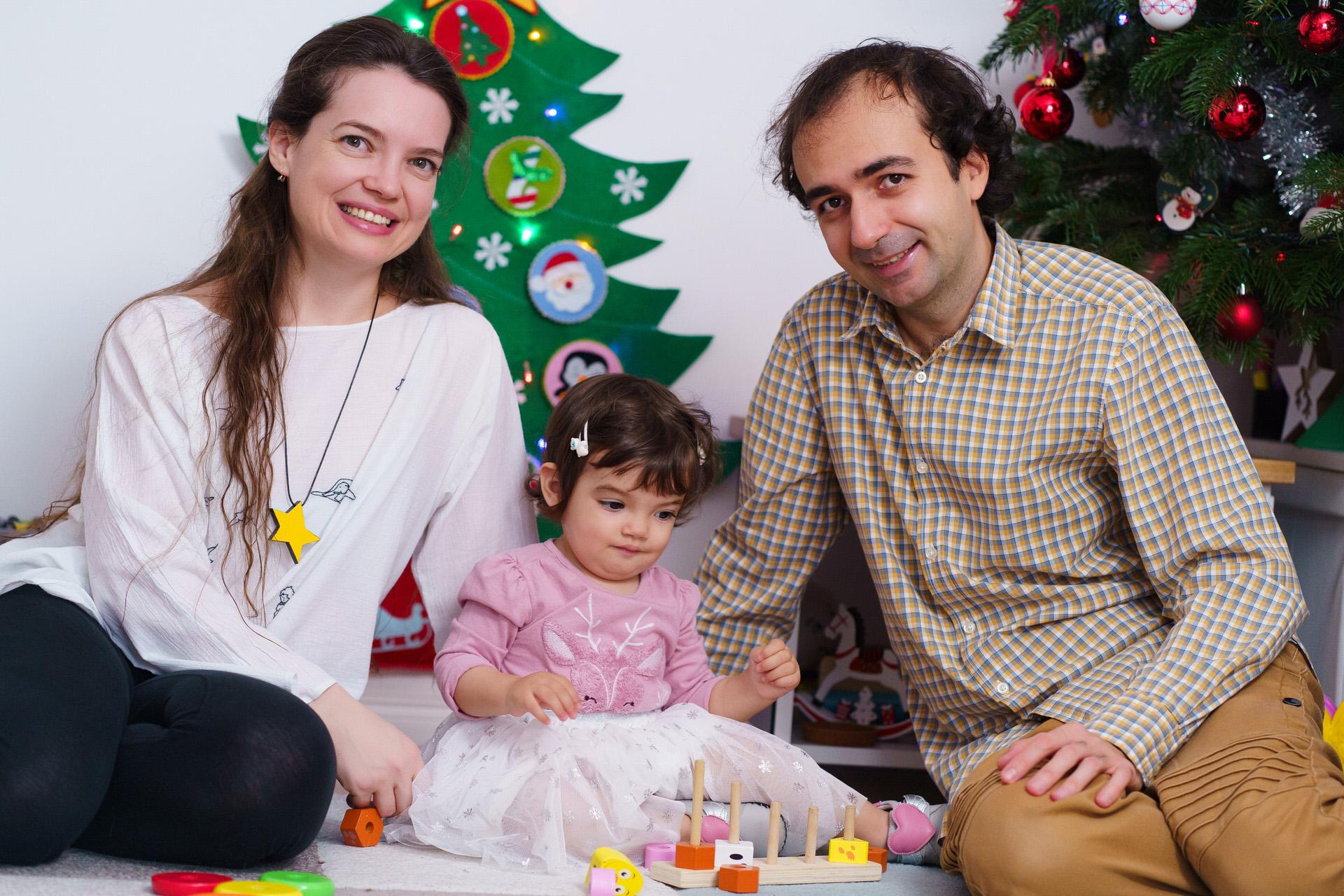 Ședinta foto de Crăciun, fotografie de familie