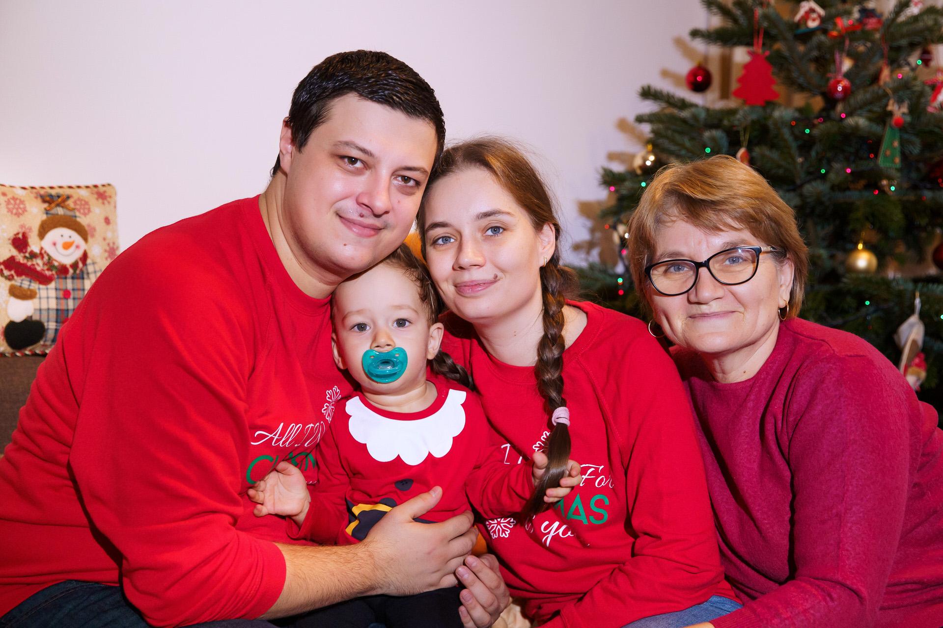 Ședinta foto in familie de Crăciun